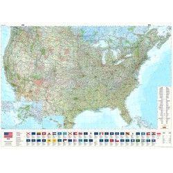 Landkarte Vereinigte Staaten (Hallwag) 1:3.800.000