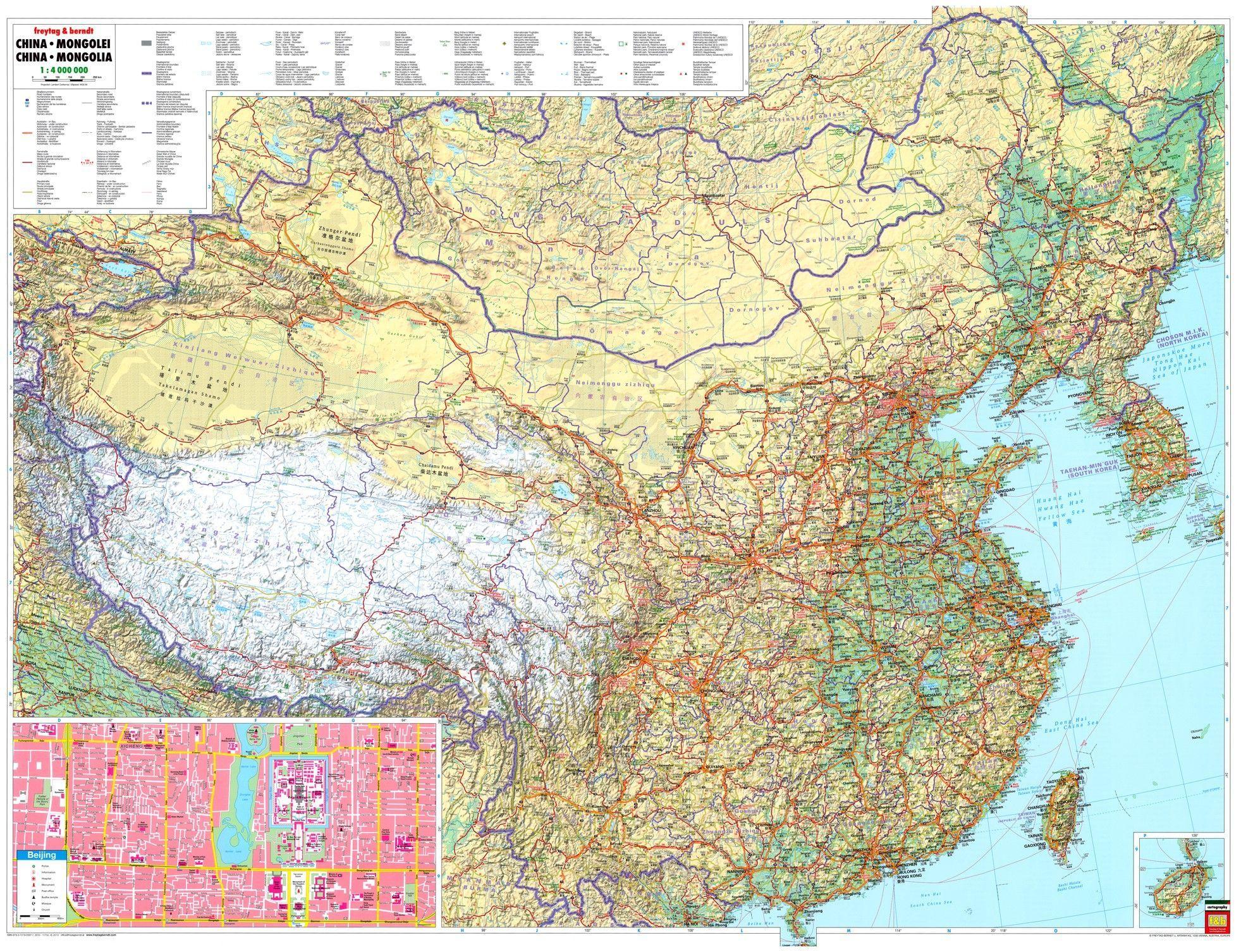 Landkarte China 1:4.000.000