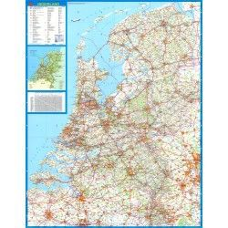 Landkarte  Niederlande 1:250.000 mit platz namen index