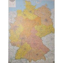5-stellige  Postleitzahlenkarte  Deutschland 1:700.000