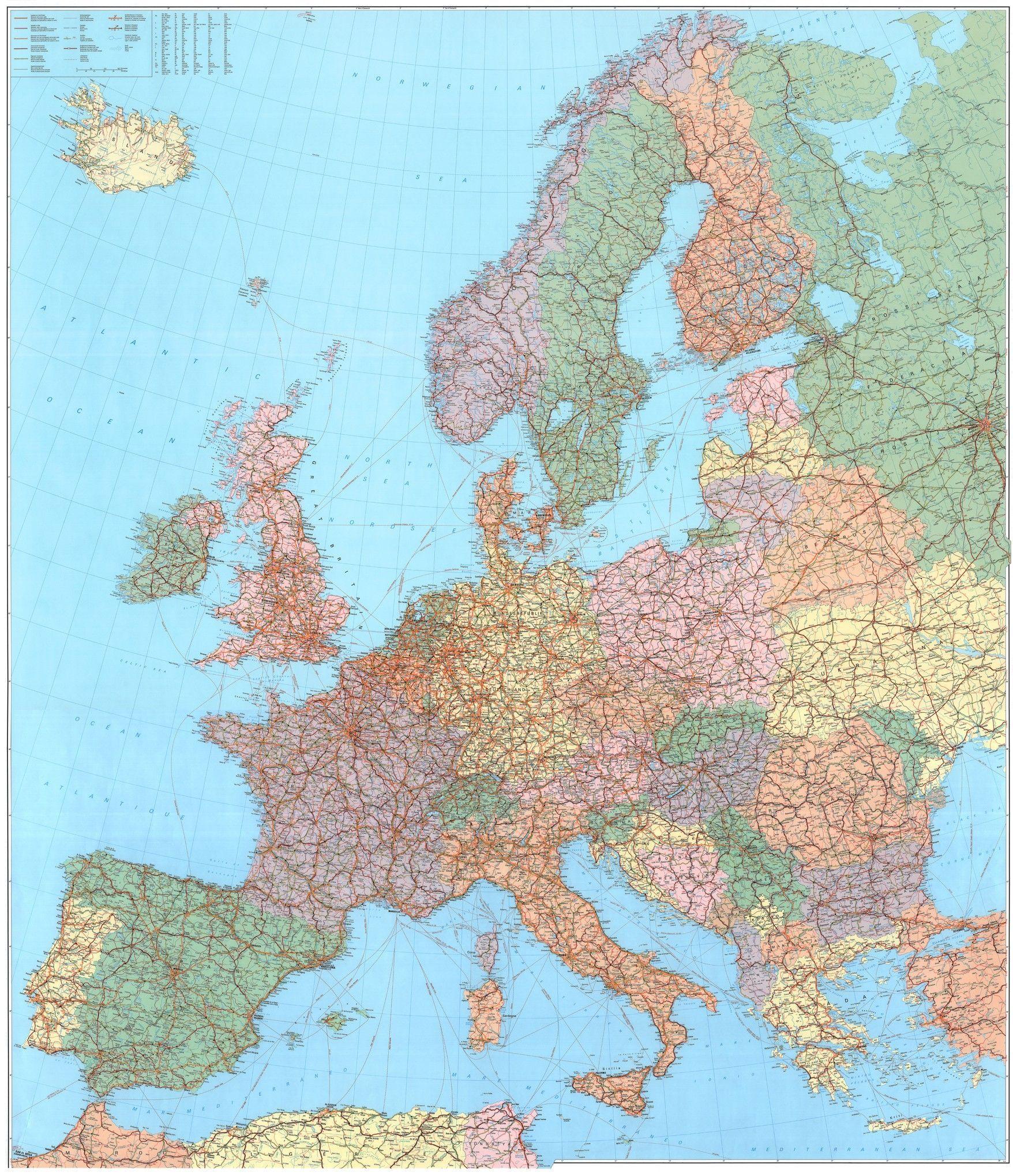 Europakarte  D 1:2.750.000