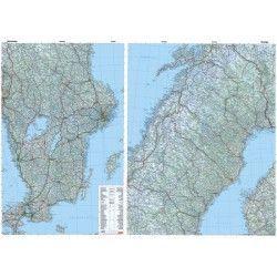 Landkarte Schweden 1:800.000 mit platz namen index