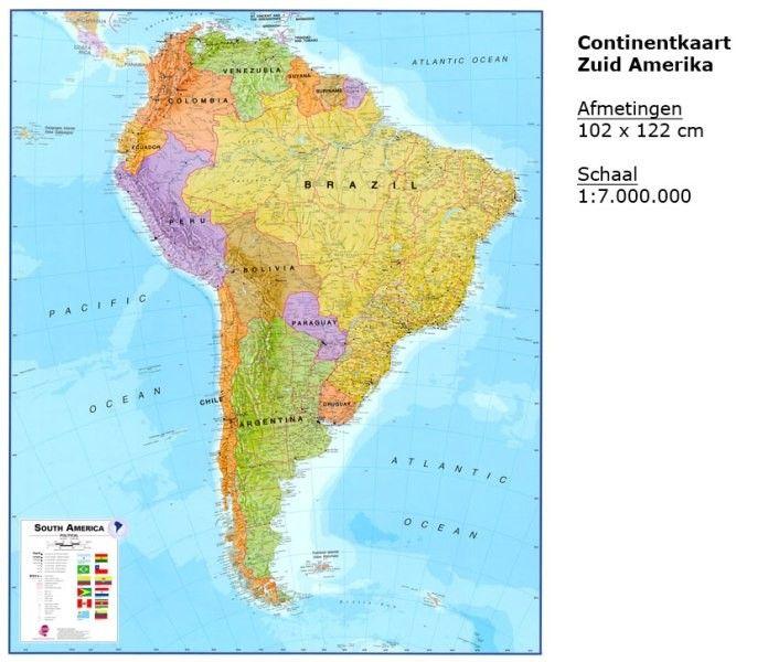 Kontinentkarte  Zuid-Amerika 1:7.000.000